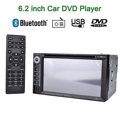 Double 2Din in-dash Car Stereo 7'' HD Touch Screen DVD Player MP3 Radio MP5
