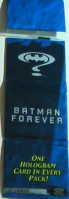BATMAN FOREVER US 17 Trading Card Sealed Rack Pack inc HOLOGRAM 1995 FLEER