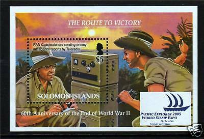 Solomon Is 2005 End of WW II MS SG1124 MNH