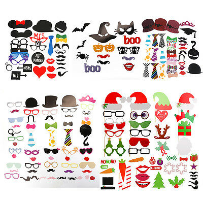 Christmas Photo Booth Props Mustache On A Stick Party Photography Wedding