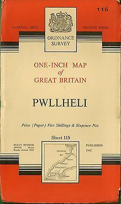 Ordnance Survey Map No.115 PWLLHELI -  1962