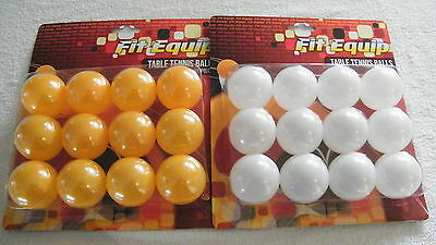 144  Table Tennis Ping Pong Games Balls 40mm Yellow & White 12 Per Blister Pack