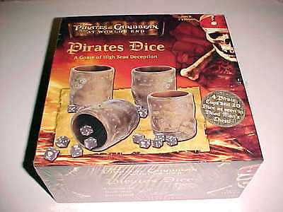 Disney Pirates of Caribbean at Worlds End Pirates Dice Game 2007 USAopoly New