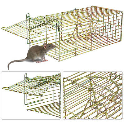 Humane Rat Catcher Mouse Vermin Cage Trap Live Animal Pest Control In/Out door
