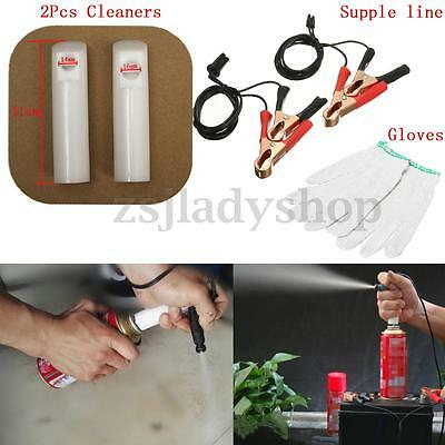 Universal Car Auto Vehicle Fuel Injector Flush Cleaner Adapter DIY Kit Set Tools