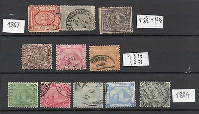 classique d'egypte 1867-1884 collection old stamp egypte
