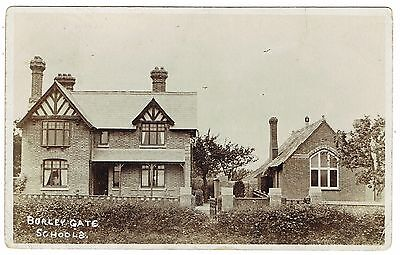 1907 Real Photo Postcard - Burley Gate Schools - Herefordshire - Note Spelling!!