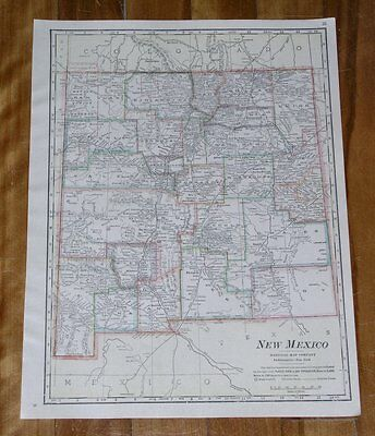 1917 Map Of New Mexico
