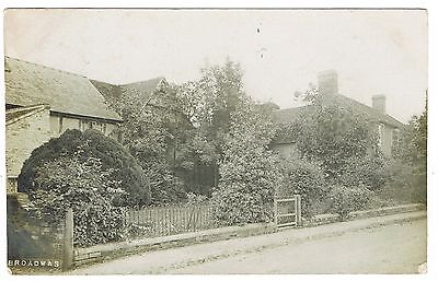 Real Photograph Postcard - Broadwas Cottages Yours? Nr. Malvern Worcestershire