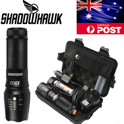 20000lm Tactical&Military Flashlight CREE XM-L2 LED Torch G700+Battery+Charger