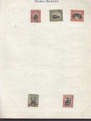NORTH BORNEO on album page stamps removed for shipping (c)