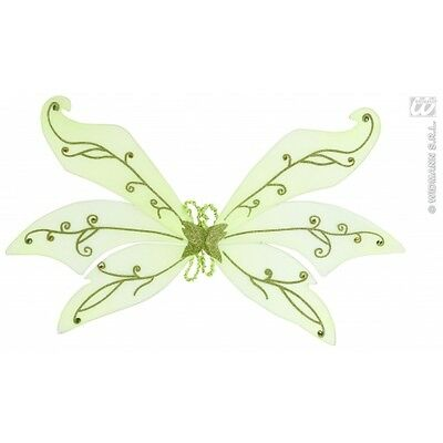 Maxi Green Glitter Wings with Gems for Fairy Fairytale Magic Fancy Dress
