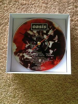 Oasis Don't Look Back In Anger CD Clock with white gift box