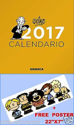 CALENDARIO DE PARED QUINO 2017 SPANISH ESPAÑOL WALL CALENDAR (Mafalda Author)