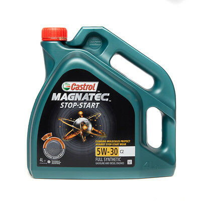 Car Engine Motor Oil 4 Litres Fully Synthetic - 4L Castrol Magnatec 5W30 C2 SAE