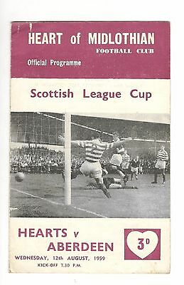 Hearts v Aberdeen 1959 - 1960  League Cup