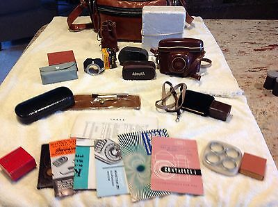 ZEISS IKON CONTAFLEX I w/ Whole Bag of Extras. Must See!!