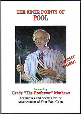 Grady Mathew's Finer Points of Pool DVD - a Classic Instructional for all games!