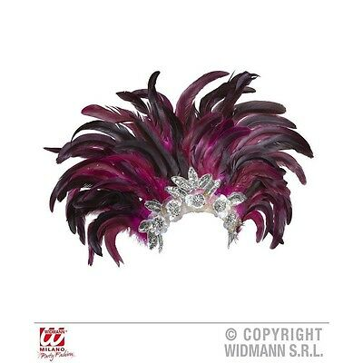 Rio Show Feathered Headdress - Feather Indian Carnival Festival Fancy Dress