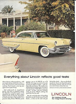 Old Lincoln Car Everything Reflects Good Taste Ad