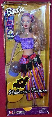 Mattel Target Special Edition Halloween Fortune Barbie 6 Good Luck Cards NRFB