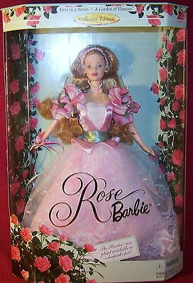 Mattel Rose Barbie 1st in Series A Garden Of Flowers Collector Edition NRFB MIB
