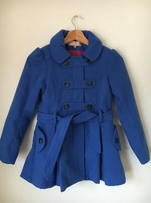 Missy In Love Blue Age 9/10 Lined Coat Double Breasted Coat  T7906