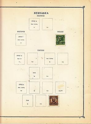 UNITED STATES OF AMERICA Minden.. Pre-cancels on Page Removed for Shipping