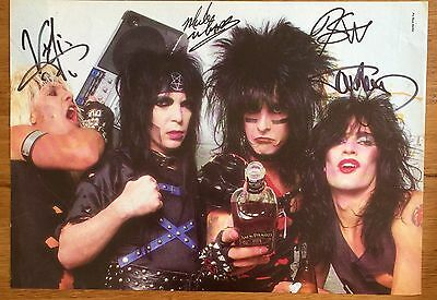Motley Crue - Promo poster Signed Autographed Dr Feelgood