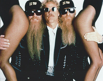 Zz Top 8 X 10 Photo With Ultra Pro Toploader