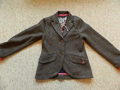 Beautiful Girls Joules Soft Jersey Tweed Jacket Age 8 years Excellent condition