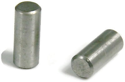 Stainless Steel 18-8 Dowel Pin Rod, 1/8 x 1/2, Qty 25