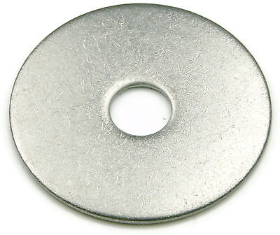 Stainless Steel Fender Washer 1/4 x 1, Qty 100