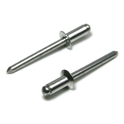 POP Rivets ALL Aluminum 64C 3/16 x 1/4 Grip Countersunk Head USA Made Qty 100