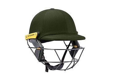 2017 Masuri Original Series MKII Green Cricket Helmet with Titanium Grill