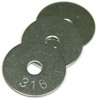 316 Stainless Steel Fender Washer 10 x 1/2, Qty 25