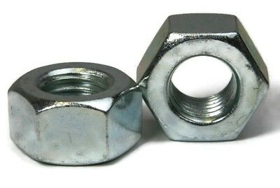 """Heavy Hex Nut Zinc Plated Steel Heavy Nuts - 1/4""""-20 - Qty-250"""