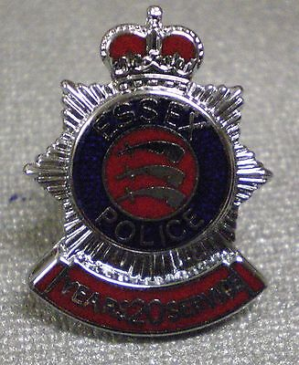 ESSEX POLICE 20 YEARS SERVICE Enamel Lapel Pin Badge