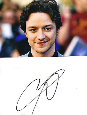 James McAvoy signed autograph on white card  + photo ! X-Men