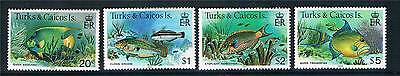 Turks & Caicos 1983 Fish Definitives Perf 14 SG 523ba/28ba MNH