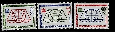 Cambodia Sc 126-8 NH set of 1963 - Human Rights