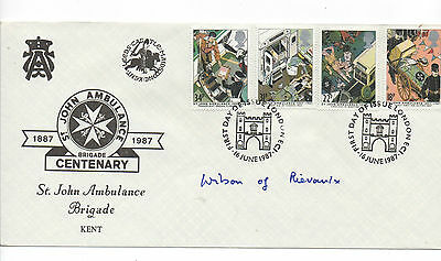 GB.1987.St.Johns Amb. FDC.Signed 'Harold Wilson' Ex.PM.