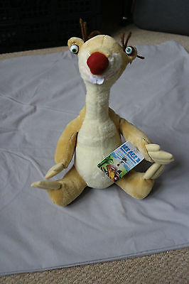 """ICE AGE 3 Sid The Sloth  12"""" Plush Soft Toy With Tags Great Condition"""