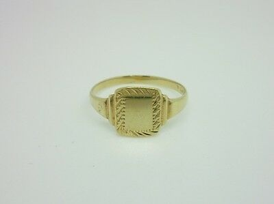 Gorgeous Vintage Gold on Sterling Silver Blank Unengraved Signet Ring Size Q 1/2