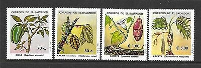 SALVADOR Sc 1377-80 NH ISSUE OF 1994 - PLANT & FLOWERS