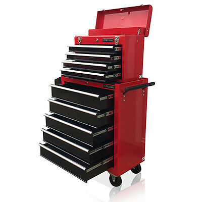 377 Us Pro Tools Red Black Affordable Tool Chest Rollcab Box Roller Cabinet