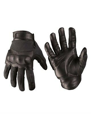 Tactical Gloves Leder/Kevlar® schwarz, Handschuh, Outdoor, Military     -NEU-