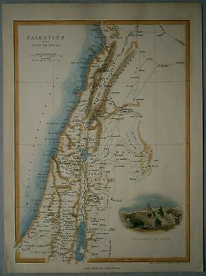 1847 Hughes map PALESTINE WITH PART OF SYRIA (#69)
