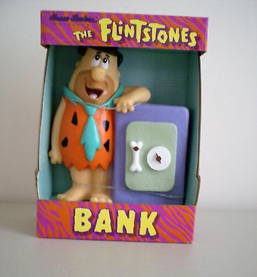 Hanna Barbera The Flintstones Fred Flintstone Bank New In Box 1992