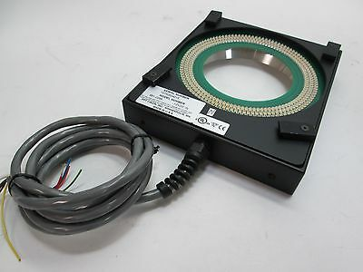 """PPT Vision 661-0295 LED Light Ring 12VDC 3.330"""" ID 5 Ft Cable 8 Wire No Plug"""
